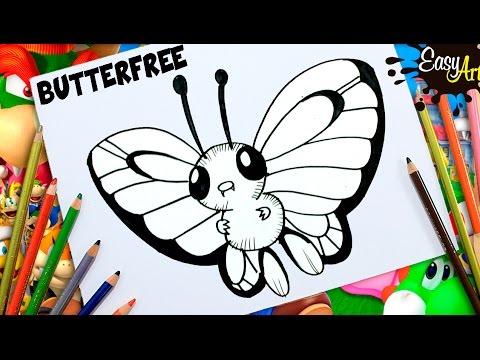 Dibujos Pokemon Go Como Dibujar A Butterfree How To Draw