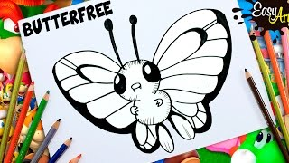 DIBUJOS POKEMON GO│Cómo Dibujar a Butterfree│How to draw  Butterfree