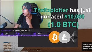 kid donates BITCOIN to ROBLOX Twitch streamer..