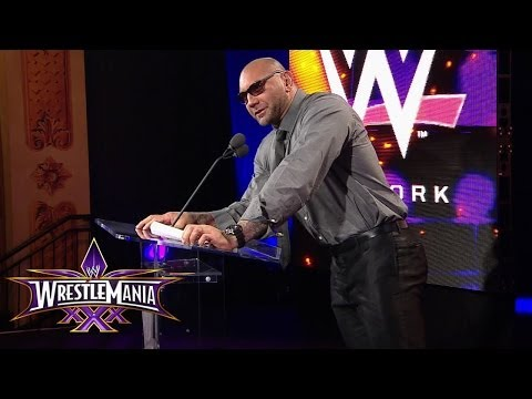 Batista and Randy Orton are set for the main event: WrestleMania 30 Press Conference