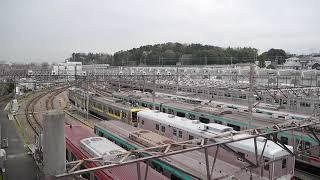 ゆうマニ甲種輸送① 長津田検車区からY000系に牽引され発車