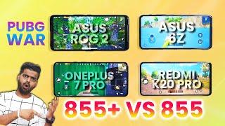 Asus Rog Phone 2 Vs Redmi K20 Pro Vs Oneplus 7 Pro Vs Asus 6z - Pubg Ka King Kon? 🔥🔥