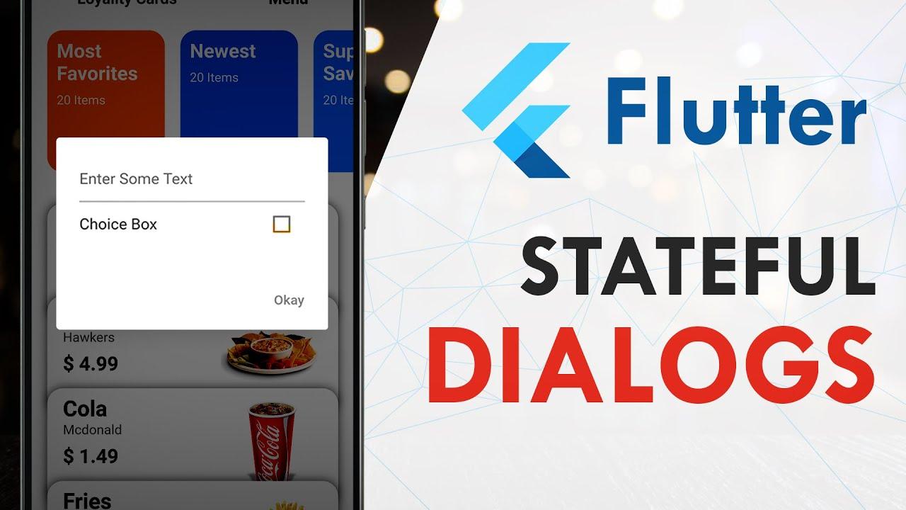 Flutter Stateful Dialog Form | Flutter Tutorial | Stateful Builder