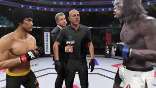 Bruce Lee vs. Werewolf (EA sports UFC 2) - CPU vs. CPU