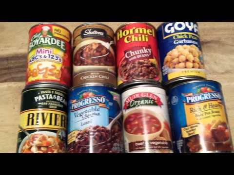 Store Bought Canned Food for Prepper SHTF Stockpile - Pros and Cons! :)