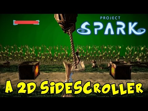 Project Spark | Xbox One Gameplay Part 78 | A 2D Sidescroller (Platforming Parkour)