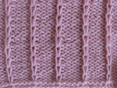 Вязание вытянутыми петлями спицами