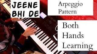 Both Hands Hindi Song Piano Lesson Arpeggio Pattern Piano Lesson #25