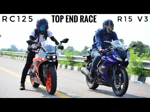 Yamaha R15 V3 VS KTM RC125 Race | Top End