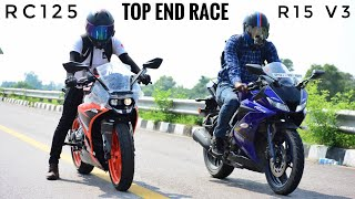Yamaha R15 V3 VS KTM RC125 Race | Top End