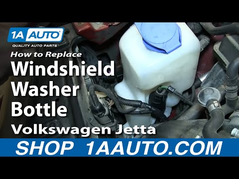How to Replace Windshield Washer Reservoir 01 Volkswagen Jetta or Golf