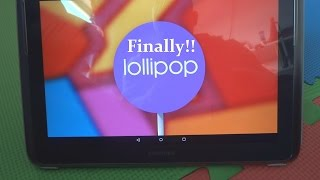 Here is Android 5.0 Lollipop Galaxy Note 10.1
