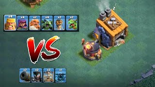 Roaster Vs All Troops ( super pekka Blast Ability ) | clash of clans builder Hall 7/8 Private server