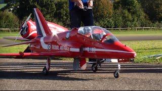 RAF Red Arrow Hawk turbine scale model Jet Aerobatic Hausen RC Show Switzerland