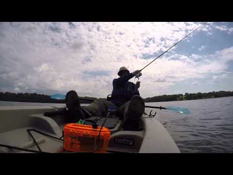 Kayak bass fishing ascend fs12t youtube for Ascend fs12t fishing kayak