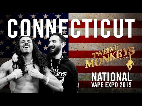 NVE Connecticut 2019 (Part 1) - 12 Monkeys Vapor Co  Vlog