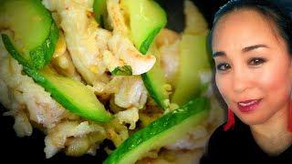 Chicken u0026 Cucumber Stir-Fry Chinese Style