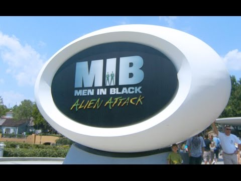 Universal Studios Men in Black: The Ride POV Alien Attack! Orlando Florida