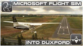 Into Duxford (Cessna 172 VFR)  Microsoft Flight Simulator