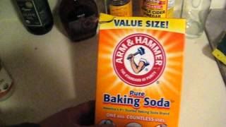 baking soda and some of it