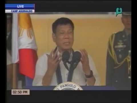 VIDEO: Pres. Rodrigo Duterte delivers his speech in Camp Aguinaldo