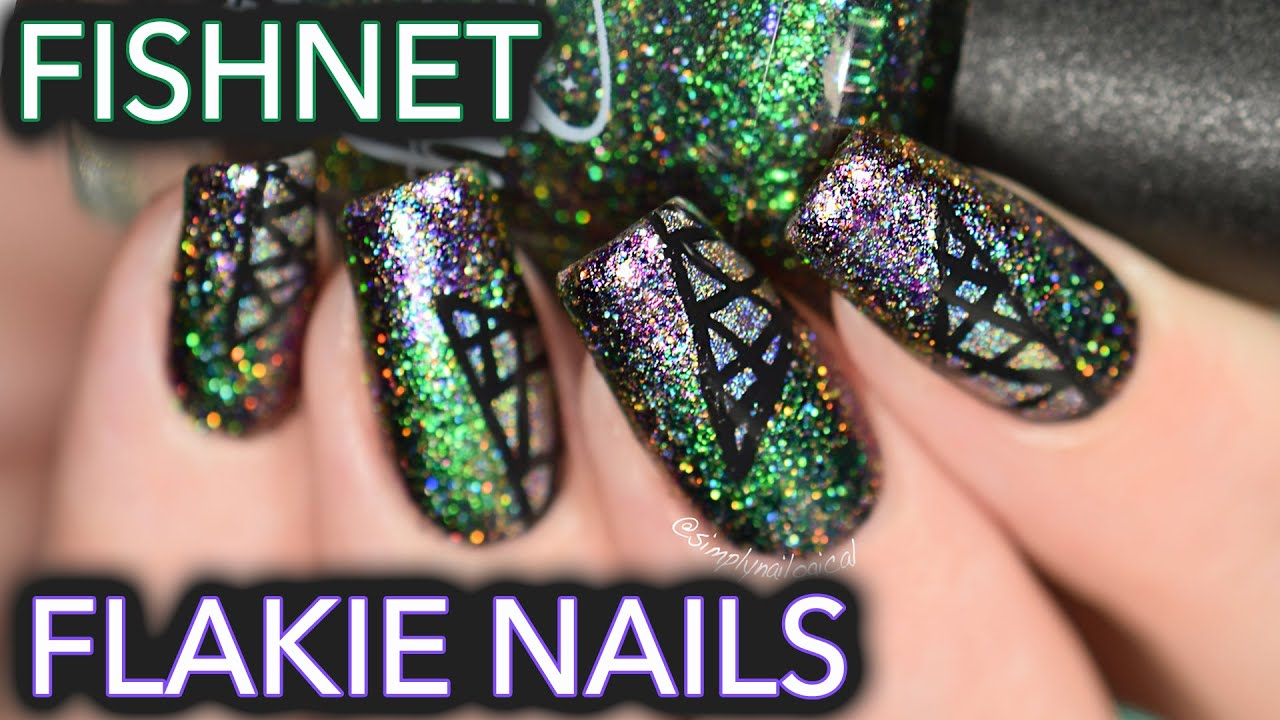 Slutty Fishnet Flakie Nail Art Some Flakie Porn Youtube
