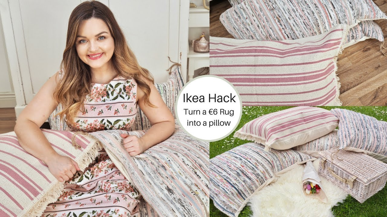 Ikea Rug Pad Ikea Hack How To Turn A Tanum Rug Into A Pillow Easy Sew