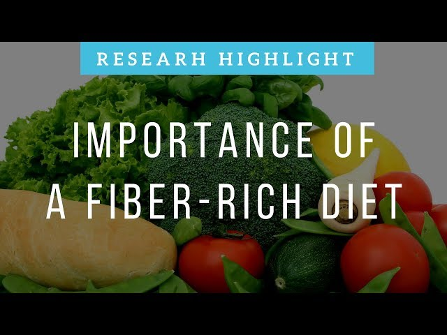 The Importance of Fiber-Rich Diet | Research Highlight