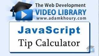 JavaScript Tutorial - Tip Calculator HTML5 Application Programming Range Slider
