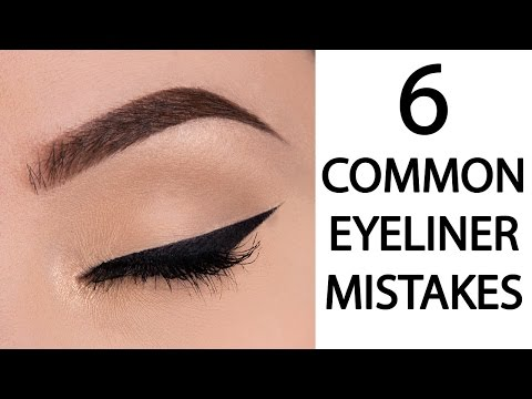6 COMMON EYELINER MAKEUP MISTAKES