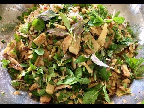 How to make Larb nor mai ລາບໜໍ່ໄມ້( LAO FOOD ) HOME MADE BY KAYSONE