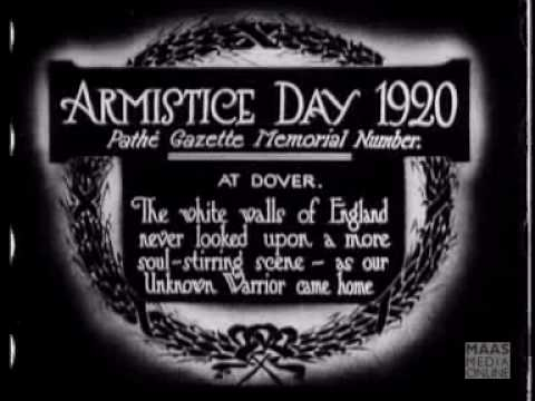 Armistice Day 1920 Homecoming Of An Unknown Warrior2