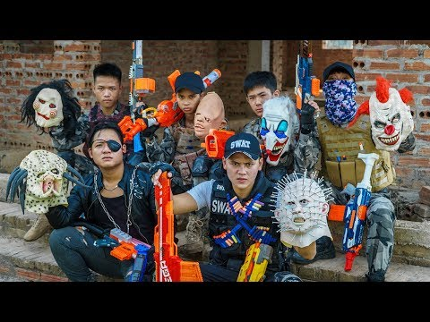 LTT Films : Special Forces Silver Flash Nerf Guns Fight Crime Group Tiger Mask Bandits