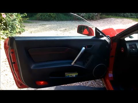 Hyundai Coupe How To Remove The Door Card.