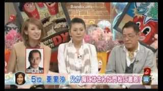 亜里沙さん「ダウンタウンDX」初出演 12年6月21日放送回 http://am...