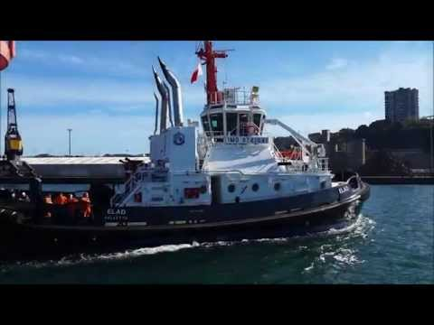 """Redwise  ship delivery: Tug """"ELAD"""" at departure"""