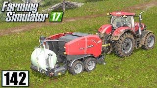 Prasowanie i owijanie trawy - Farming Simulator 17 (#142)