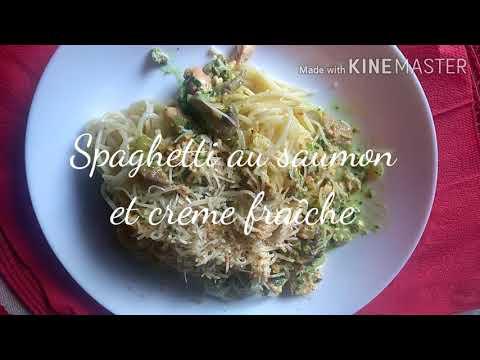 spaghetti-au-saumon-et-la-crème-fraîche