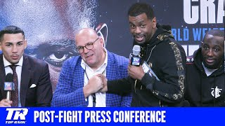 Post-Fight Press Conference featuring a happy Teofimo Lopez and Terence Crawford