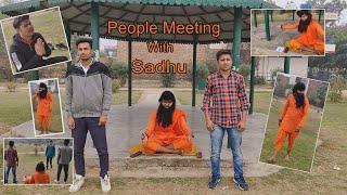 People Meeting With Sadhu - Sahil Verma