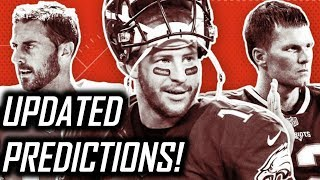 2017 NFL Mid-Season Win-Loss Predictions - UPDATED Projections for Each Team!