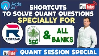 shortcuts to solve quantitative aptitude questions in bank and ssc exams restream