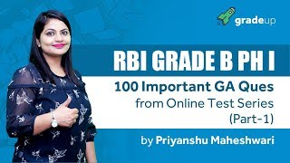 RBI Grade B Phase I - Last 10 days strategies | 100 Important Questions from Test Series - Part I
