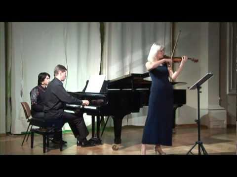 Ravel Violin Sonata (1st movement) by Clara Cernat and Thierry Huillet live