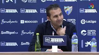 Rueda de prensa de  Rubén Baraja tras el Málaga CF vs CD Tenerife (2-0)