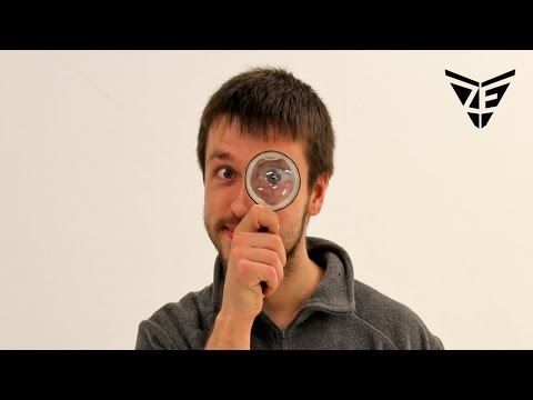 How to make magnifying glass at home