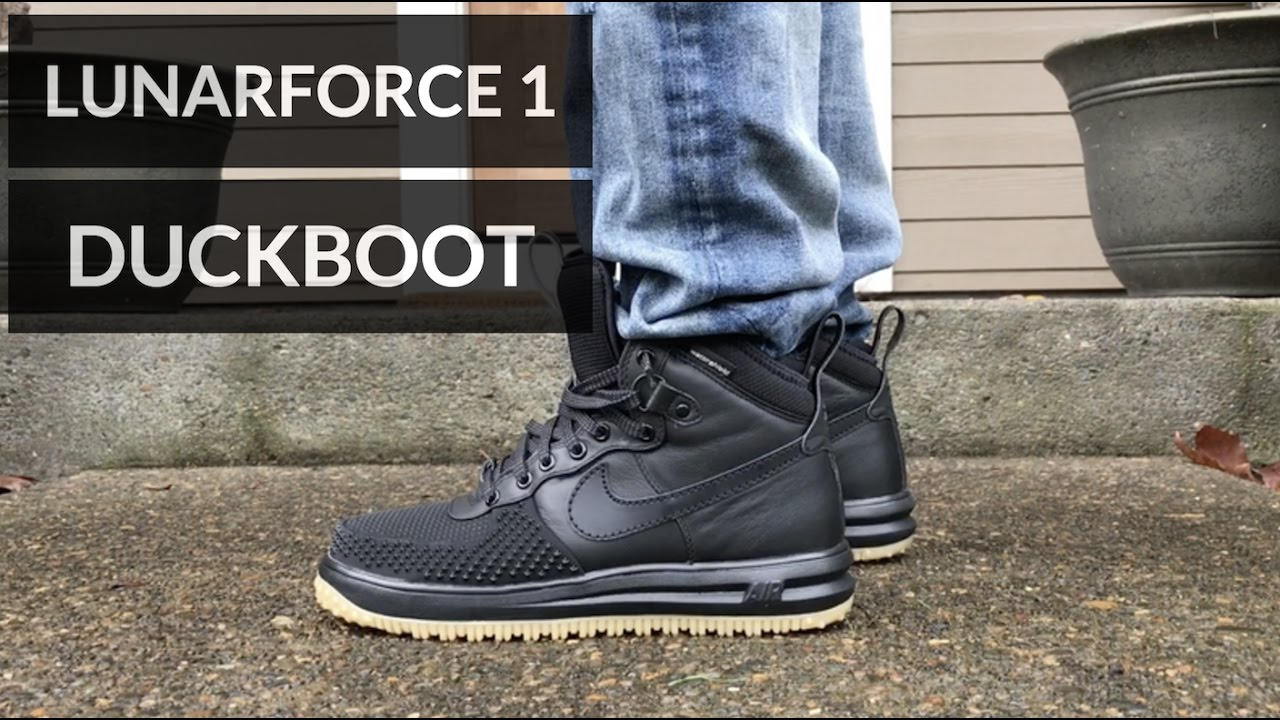 great fit a7fa1 7ba32 ... NIKE LUNAR FORCE 1 DUCKBOOT REVIEW! - YouTube Protect Your Feet ...