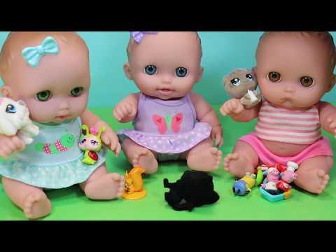 Видео, Куклы Пупсики играют в Кинетический песок Открывают Сюрпризы Собирают Пазл Зырики ТВ