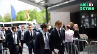 FC Barcelona in München: Messi und Neymar kommen im Mannschaftshotel an