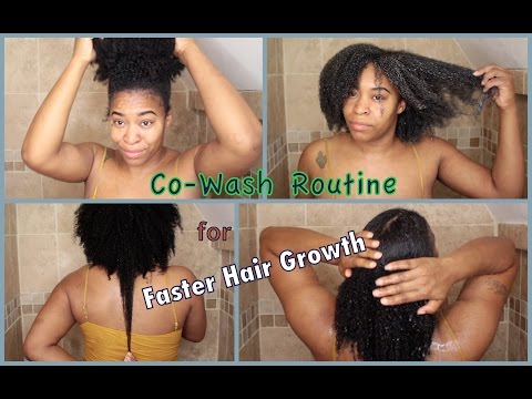 My Co Wash Routine for Faster Hair Growth + Mini Length Check